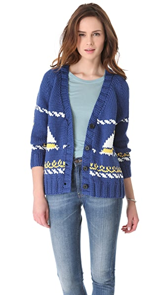 Sea Sailboat Cardigan