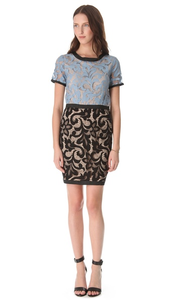 Sea Combo Lace Dress