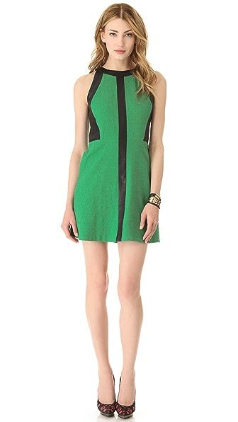 Sea Leather Cutout Tank Dress