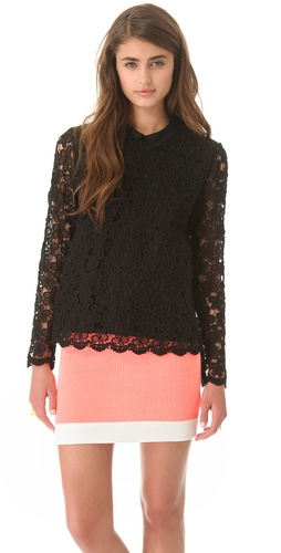Sea Lace Daisies Blouse