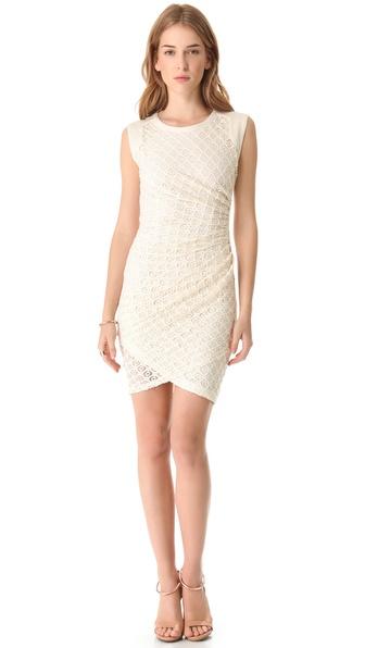 Sea Shirred Tile Sheath Dress