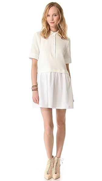 Sea Pique Combo Collared Dress