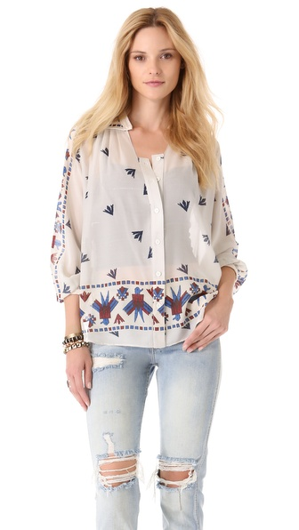 Sea Eagle Print Blouse