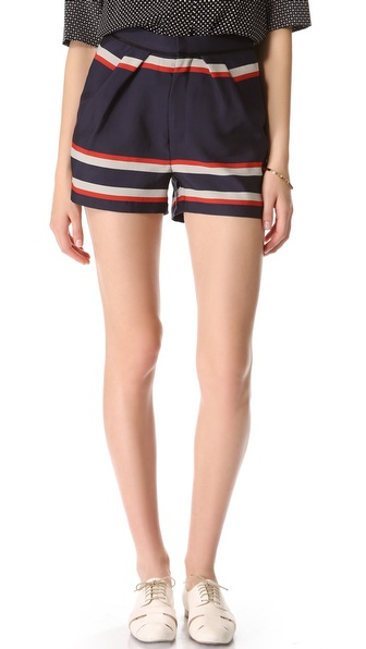 Sea Striped Pleat Shorts