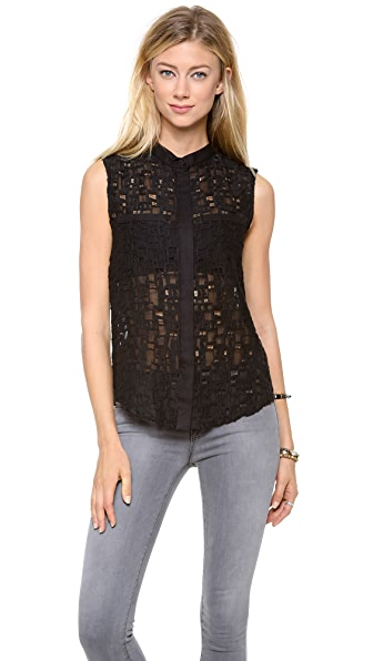 Sea Lace Sleeveless Top