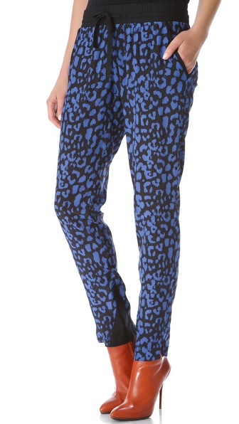 Sea Leopard Drawstring Pants