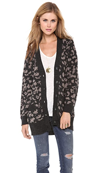 Sea Leopard Oversized Cardigan