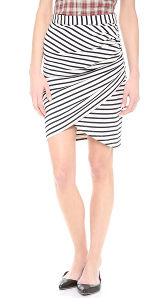 Sea Ruched Skirt