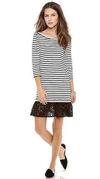 Sea Lace Ruffle Combo Dress