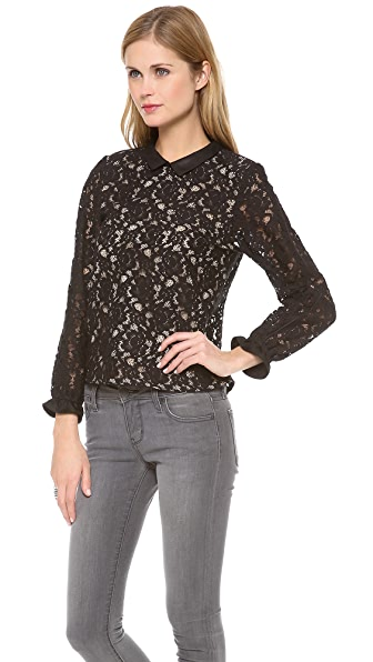 Sea Lace Long Sleeve Blouse