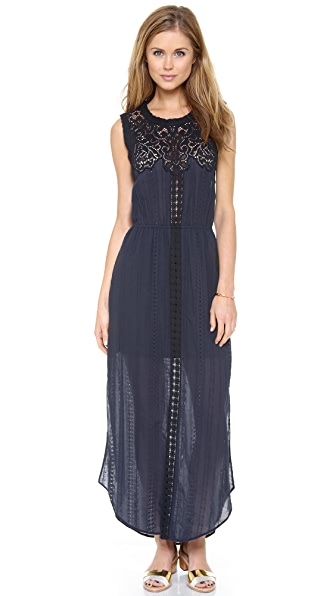 Sea Lace & Eyelet Long Dress
