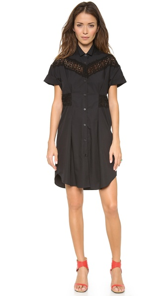 Sea Pintucked Button Down Dress