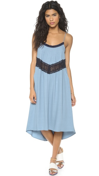 Sea Lace Inset Tank Dress
