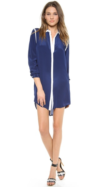 Sea Silk Button Down Shirtdress