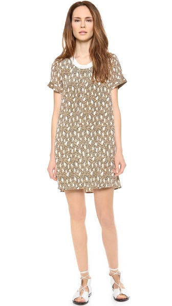 Sea Snow Leopard Tee Dress