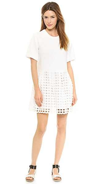 Sea Fleece & Eyelet Dress