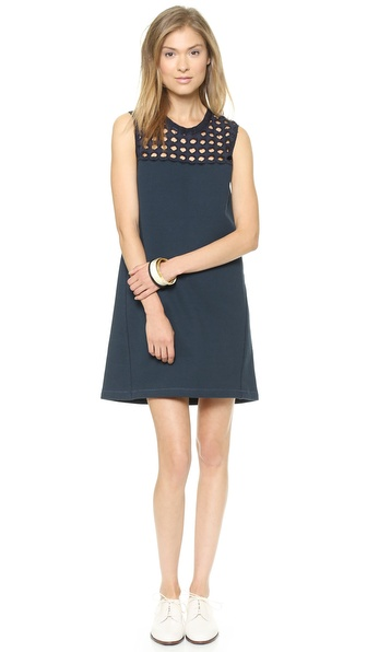 Sea Giant Eyelet + Fleece Sleeveless Dress