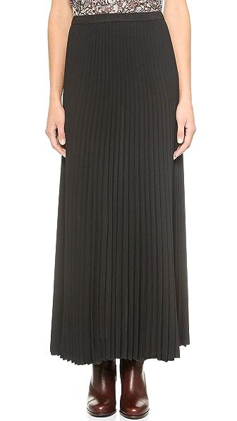 Sea Pleated Maxi Skirt