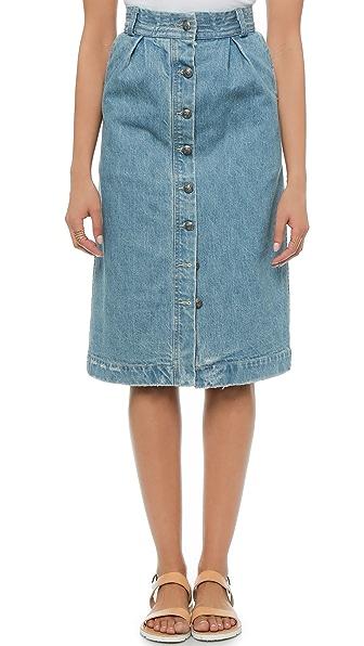 sea denim skirt shopbop