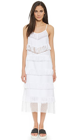 Shop Sea online and buy Sea Fringed Tank Dress - White dress online