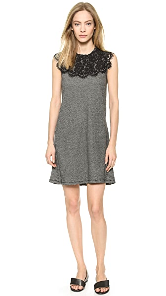 Lace Combo Dress (White)