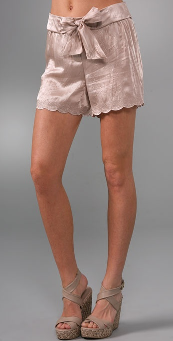 See by Chloe Scallop Tie Waist Shorts