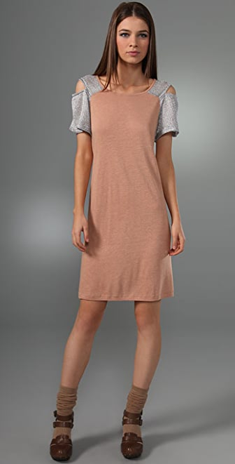 See by Chloe Mesh Shoulder Dress