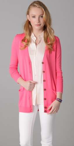 See by Chloe Long Sleeve Contrast Edge Cardigan