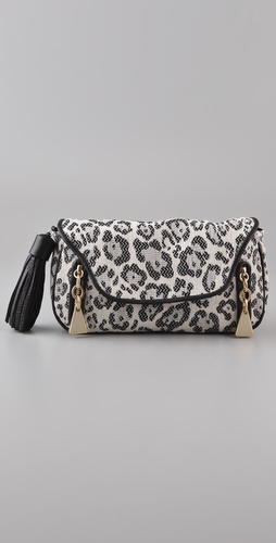 See by Chloe Cherry Leopard Clutch