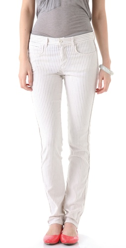 See by Chloe Pinstriped Skinny Jeans