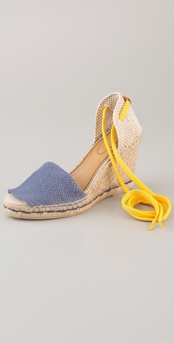 See by Chloe Contrast Ankle Tie Espadrilles
