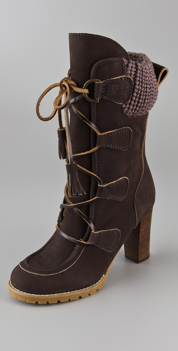 See by Chloe Wallabee High Heel Calf Boots