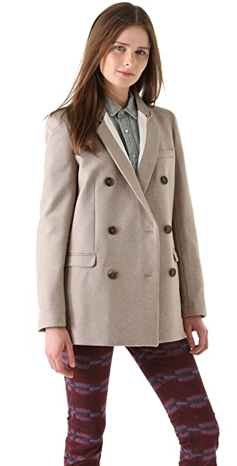 See by Chloe Double Breasted Wool Jacket