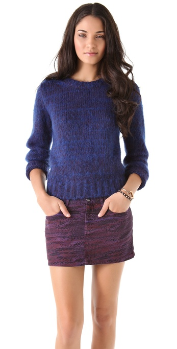 See by Chloe Thick Knit Crew Neck Sweater