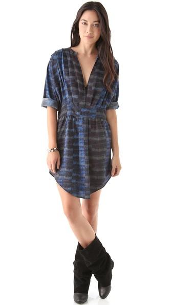 See by Chloe Empire Waist V Neck Dress