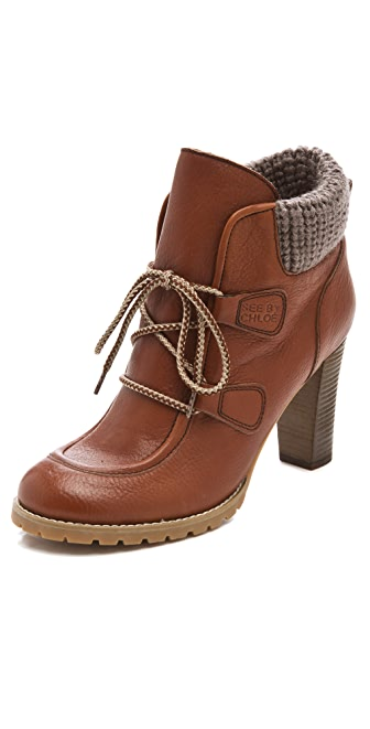 See by Chloe High Heel Wallabee Booties