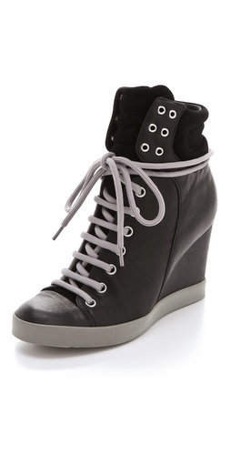 Shop See by Chloe Lace Up Wedge Sneakers and See by Chloe online - Footwear,Womens,Footwear,Sneakers, online Store