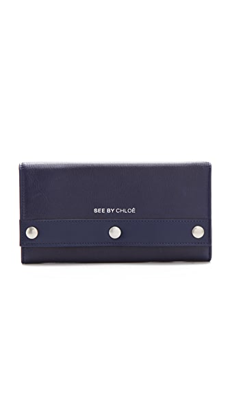 See by Chloe Adele Long Wallet with Flap