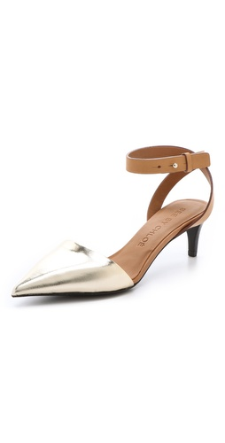 See by Chloe Metallic Point Toe Pumps at Shopbop / East Dane