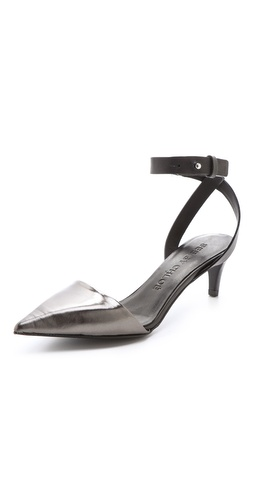 See by Chloe Metallic Point Toe Pumps at Shopbop.com