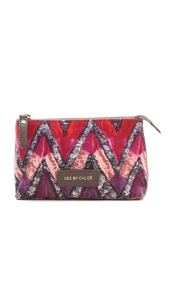 See by Chloe Agathe Printed Cosmetic Pouch