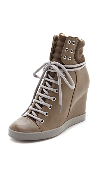 See by Chloe Lace Up Wedge Sneakers