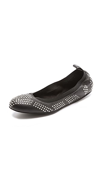 See by Chloe Studded Elastic Ballet Flats