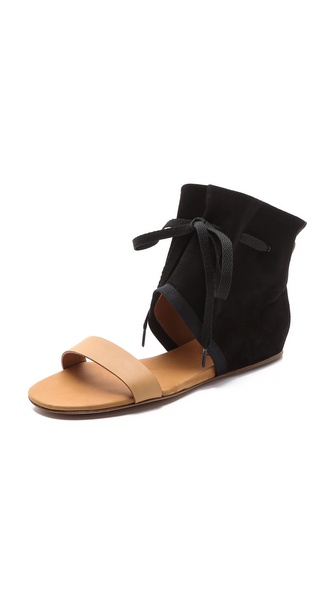 Kupi See by Chloe cipele online i raspordaja za kupiti A tonal drawstring gathers the slouchy suede cuff of these casual See by Chlo?? sandals. Leather sole. Leather: Calfskin. Imported, China. This item cannot be gift boxed. Available sizes: 36