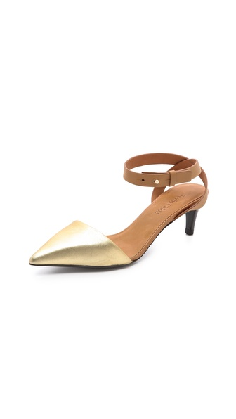 See by Chloe Metallic Pointed Toe Pumps
