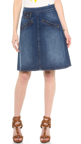 See by Chloe Knee Length Denim Skirt