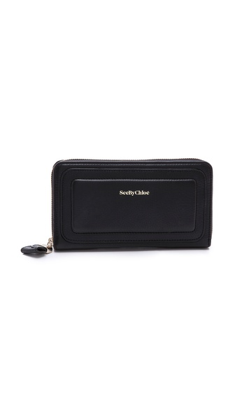 See by Chloe Kay Long Zip Wallet