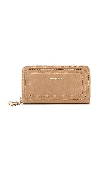 See by Chloe Kay Long Zipped Wallet