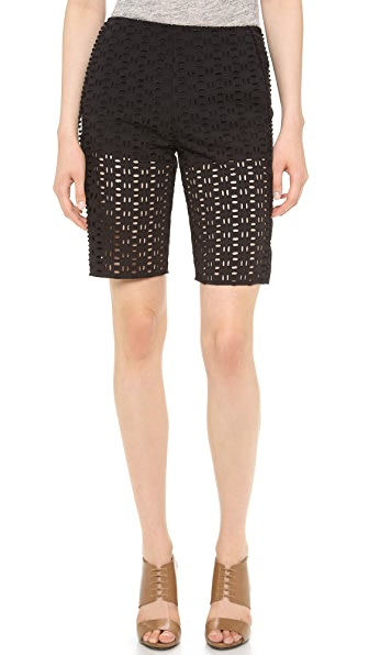 See by Chloe Eyelet Knee Length Shorts