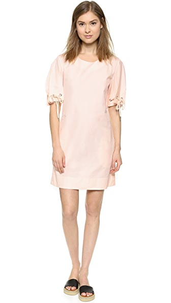 See By Chloe See By Chloe Short Sleeve Dress (Orange)
